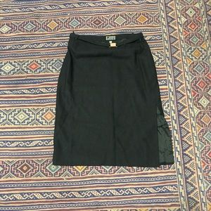 Gianni Versace vintage black skirt w/ belt Sz 40